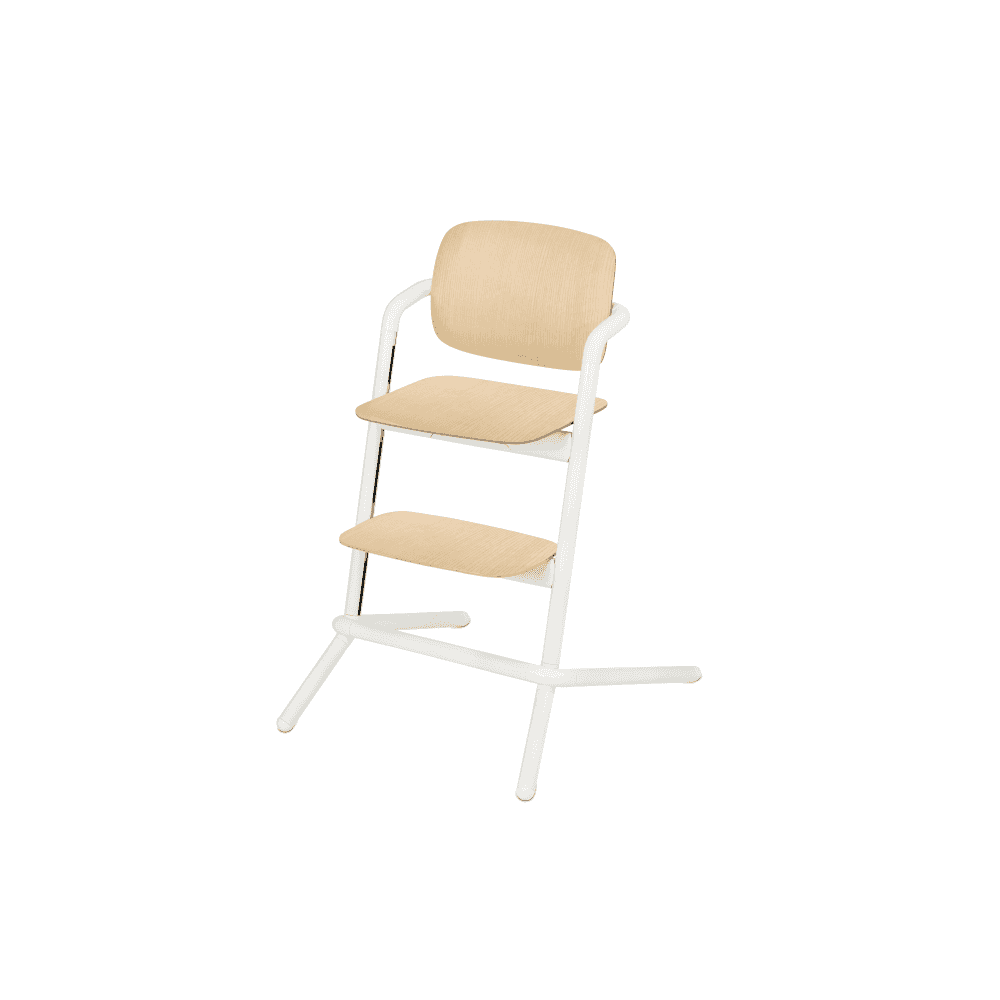 15d0c875a462 Lemo Wood Highchair + Baby Seat + Tray + Storm Grey Comfort Inlay -  Porcelaine White