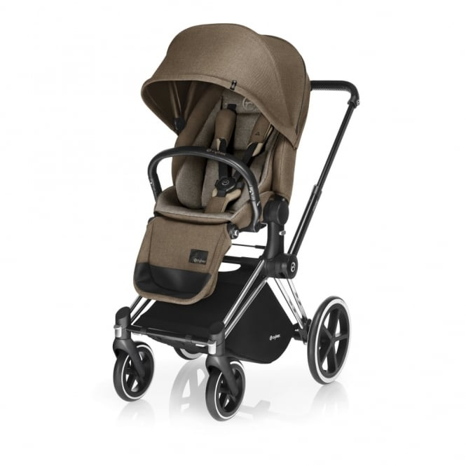 Cybex PRIAM Lux Seat - All Terrain Chassis - Chrome - Cashmere Beige