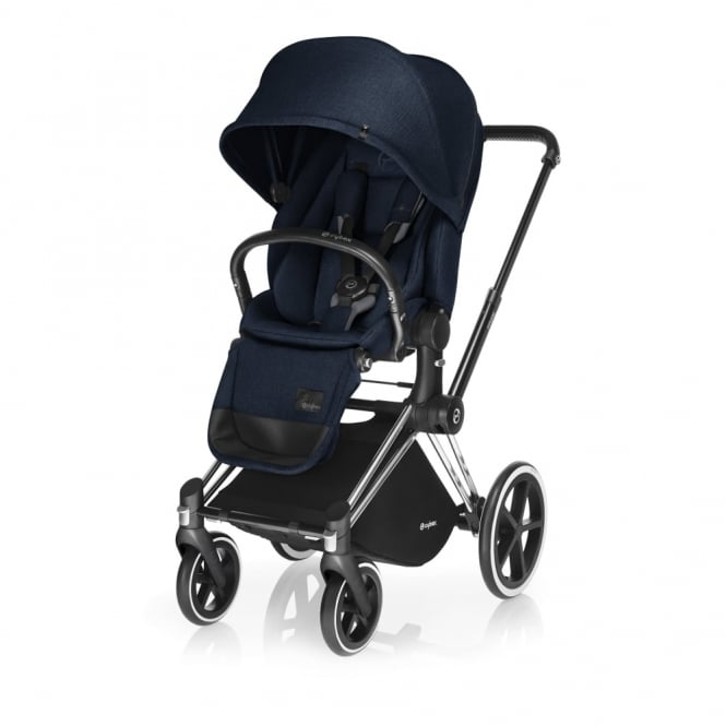 Cybex PRIAM Lux Seat - All Terrain Chassis - Chrome - Midnight Blue