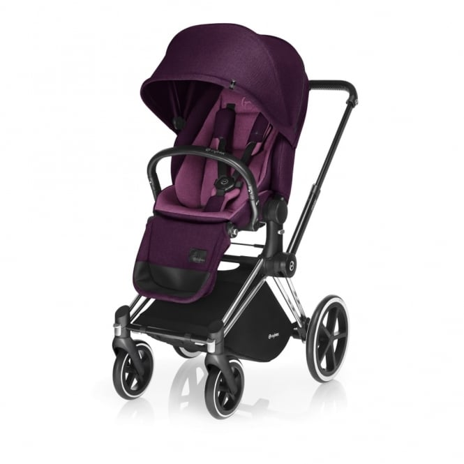 Cybex PRIAM Lux Seat - All Terrain Chassis - Chrome - Mystic Pink