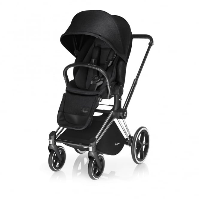 Cybex PRIAM Lux Seat - All Terrain Chassis - Chrome - Stardust Black