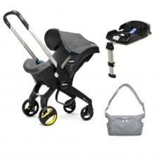 Doona™ Infant Car Seat + Isofix Base + FREE Essentials Changing Bag