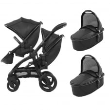 Tandem + 2 Carrycots - Jurassic Special Edition Package - Black