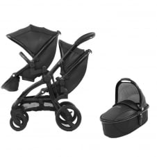 Tandem + Carrycot - Jurassic Special Edition Package - Black + FREE Cabriofix Car Seat