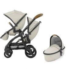 Tandem + Carrycot - Jurassic Special Edition Package - Cream + FREE Cabriofix Car Seat