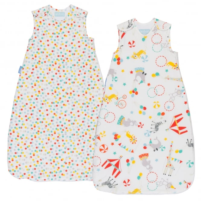 Gro Company® Roll Up Wash & Wear Grobag Twin Pack 0-6 Months & 2.5 Tog