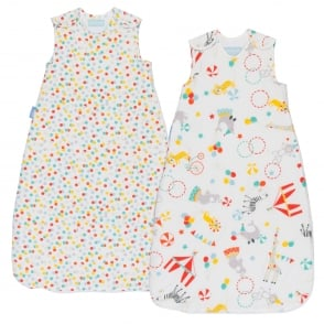 Roll Up Wash & Wear Grobag Twin Pack 0-6 Months & 2.5 Tog