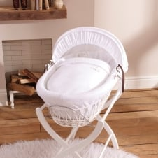 Gift White Wicker Moses Basket