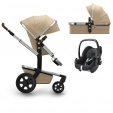 Day² Earth + Carrycot + Pebble - Camel Beige + FREE Footmuff & Raincover