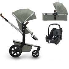 Day² Earth + Carrycot + Pebble - Elephant Grey + FREE Footmuff & Raincover