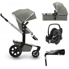Day² Earth + Carrycot + Pebble + Familyfix Base - Elephant Grey + FREE Footmuff & Raincover