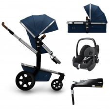 Day² Earth + Carrycot + Pebble + Familyfix Base - Parrot Blue + FREE Footmuff & Raincover