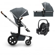 Day² Earth + Carrycot + Pebble - Hippo Grey + FREE Footmuff & Raincover