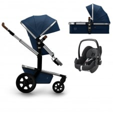 Day² Earth + Carrycot + Pebble - Parrot Blue + FREE Footmuff & Raincover
