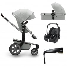 Day² Quadro + Carrycot + Pebble + Familyfix Base - Grigio