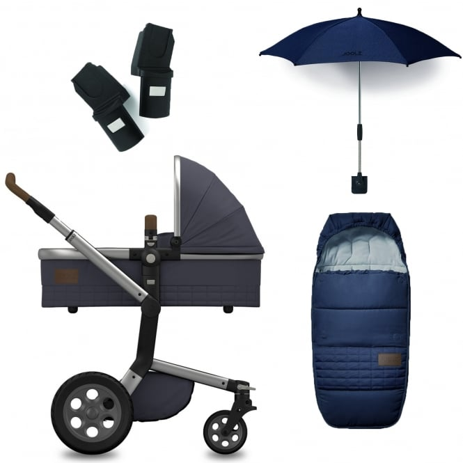 Joolz Day Quadro Package Deal - Blu + FREE sleeping bag, parasol & adapters