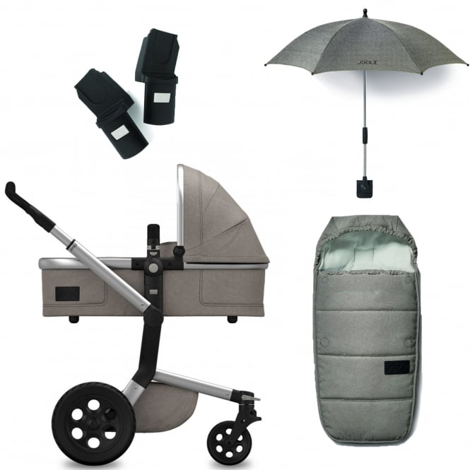 Joolz Day Studio Package Deal - Graphite + FREE sleeping bag, parasol & adapters