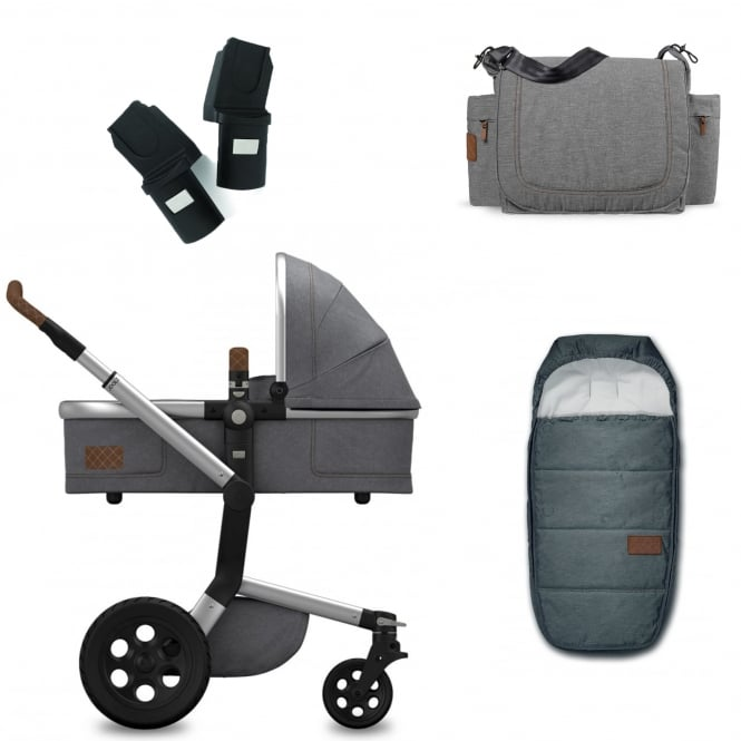 Joolz Day Studio Package Deal - Gris + FREE sleeping bag, nursery bag & adapters