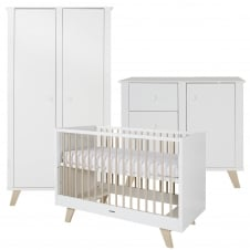 Fynn White/Nature 3 Piece Room Set