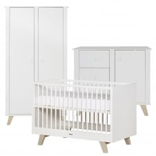 Fynn White/White 3 Piece Room Set