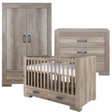 Lodge Grey Oak 3 Piece Room Set