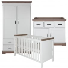 Savona White/Grey 3 Piece Room Set