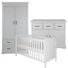 Savona White (with cross) 3 Piece Room Set