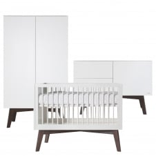 Sixties White Matt/Dark Pine 3 Piece Room Set