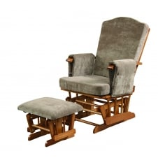 Ashdown Glider & Footstool - Brown