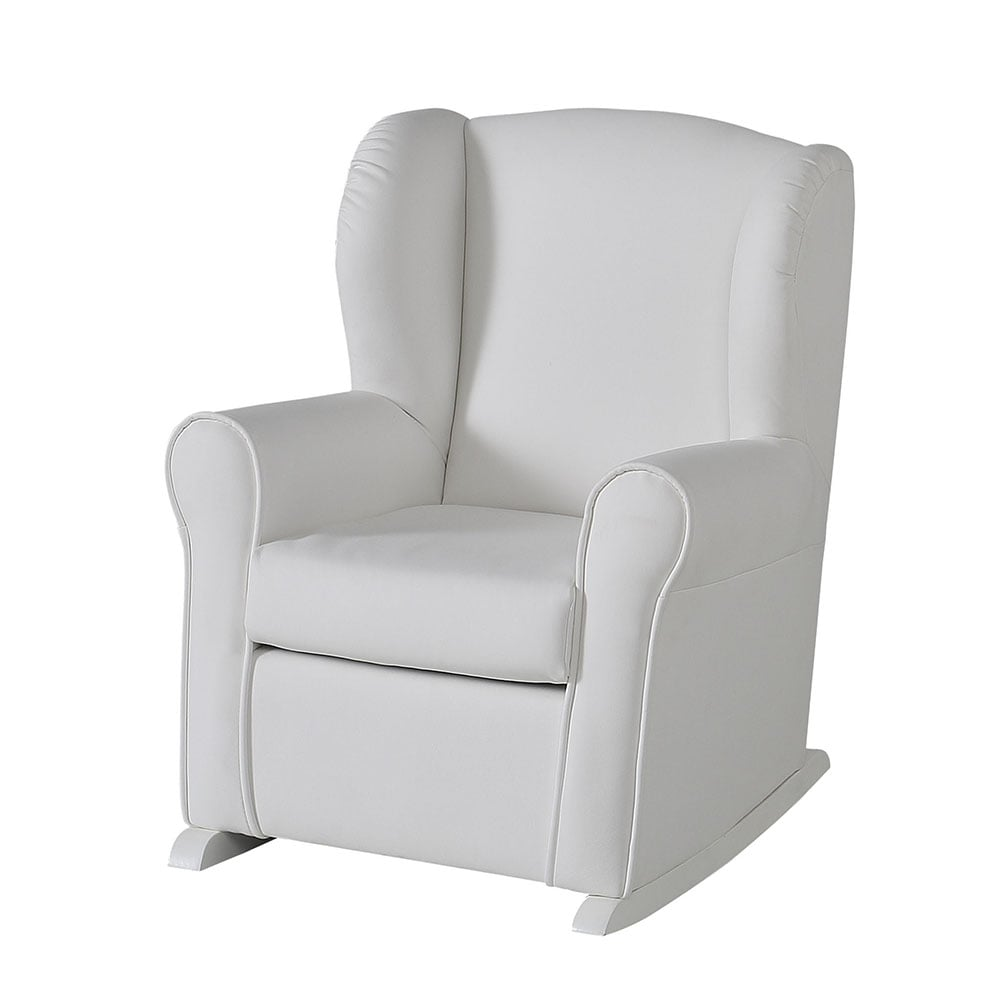 lapsi micuna nanny nursing chair white leatherette - cots from