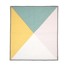 Cot/Cotbed Coverlet - Diagonal
