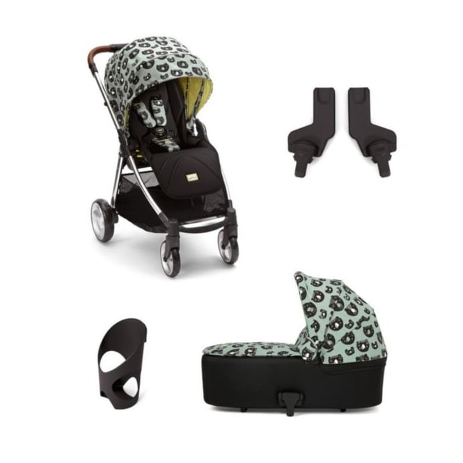 Mamas & Papas Donna Wilson 4 Piece Flip XT - Three Bears - Flip XT + Carrycot + Cup Holder + Adapters