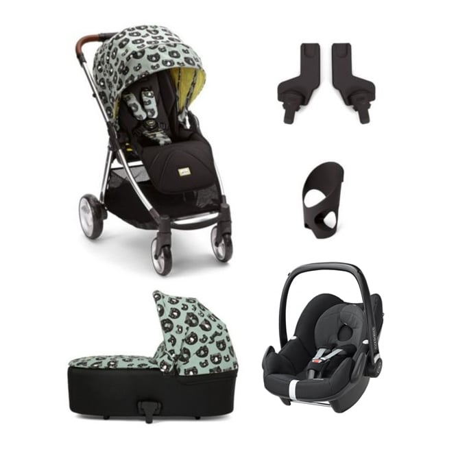 Mamas & Papas Donna Wilson 5 Piece Flip XT - Three Bears - Flip XT + Carrycot + Pebble + Cup Holder + Adapter