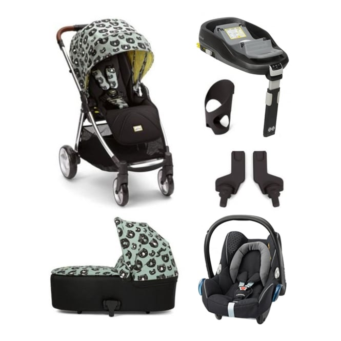 Mamas & Papas Donna Wilson 6 Piece Flip XT - Three Bears - Flip XT + Carrcyot + Cabriofix + Familyfix Base + Cup Holder + Adapters