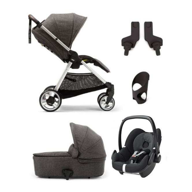 Mamas & Papas Flip XT 5 Piece - Flip XT + Carrycot + Pebble + Cup Holder + Adapters