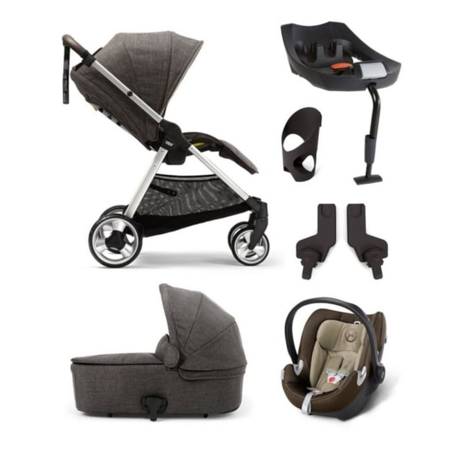 Mamas & Papas Flip XT 6 Piece - Flip XT + Carrycot + Aton + Isofix Base + Cup Holder + Adapters
