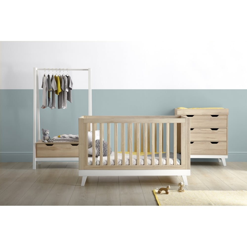 mamas papas lawson 3 piece set with clothing rail cots cot beds