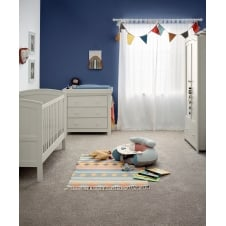 Mia Classic 3 Piece Nursery Set with Cotbed, Dresser & Wardrobe - Grey