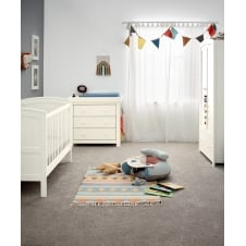 Mia Classic 3 Piece Nursery Set with Cotbed, Dresser & Wardrobe - Ivory