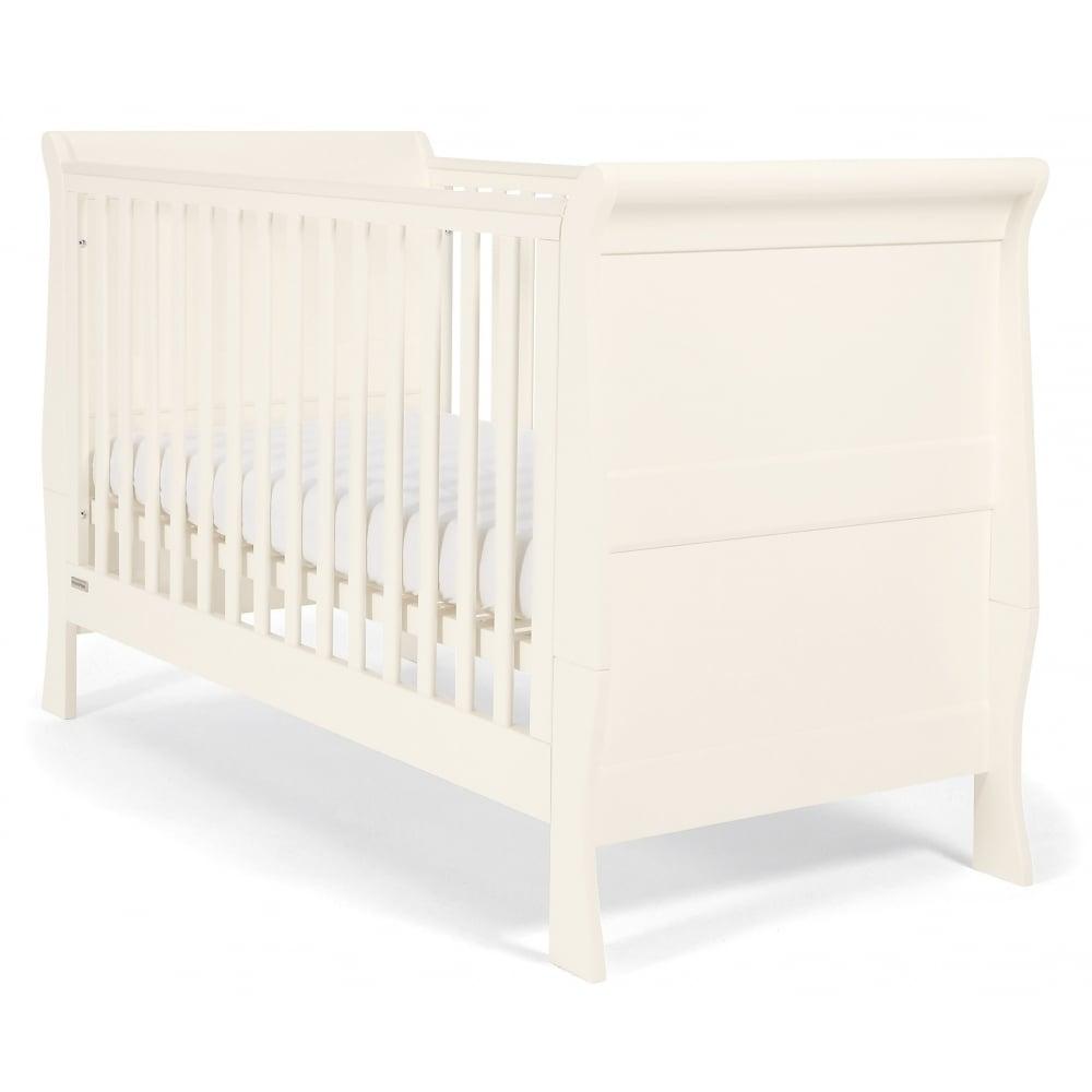 Mamas Papas Mia Sleigh 3 Piece Nursery Set With Cotbed Dresser