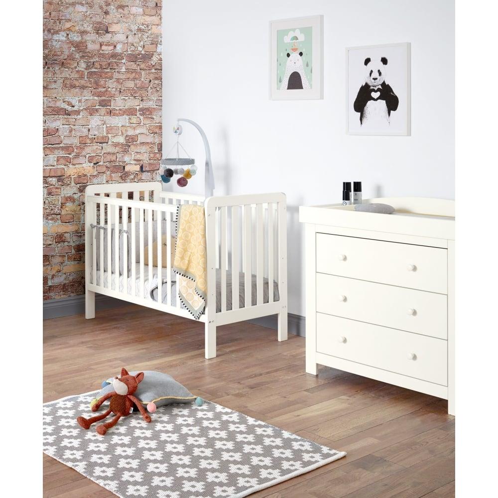 Attrayant Mia Vista 2 Piece Furniture Set   Compact Cot U0026amp; Dresser   Ivory