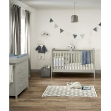 Mia Vista 2 Piece Furniture Set - Cot Bed & Dresser - Grey