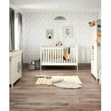 Mia Vista 3 Piece Nursery Set with Cotbed, Dresser & Wardrobe - Ivory