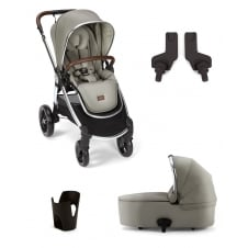 Ocarro - 4 Piece - Pushchair + Carrycot + Cup Holder + Adaptors