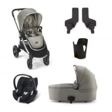 Ocarro - 5 Piece - Pushchair + Carrycot + Cup Holder + Adaptors + Aton Car Seat
