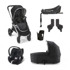 Ocarro - 6 Piece - Pushchair + Carrycot + Cup Holder + Adaptors + Aton Q Car Seat + Isofix Base