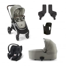 Ocarro - Sage Green 5 Piece - Pushchair + Carrycot + Cup Holder + Adaptors + Aton Car Seat