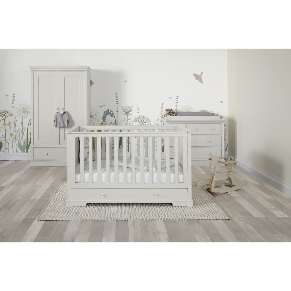 mamas papas oxford 3 piece range pebble grey cots cot beds
