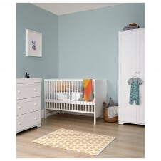 Rye 3 Piece Nursery Set - Cot Bed, Dresser & Wardrobe