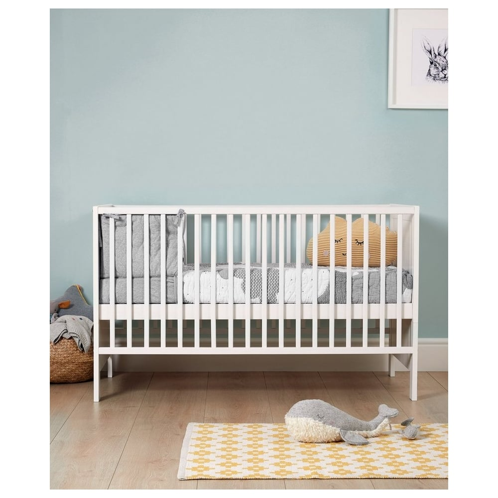 gray nursery furniture. Rye 3 Piece Wooden Nursery Furniture Set - White Gray